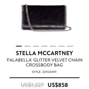 Stella McCartney black Falabella Crossbody Bag